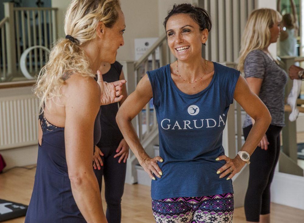 Fitness instructor at Garuda teaching how to get more fitness clients